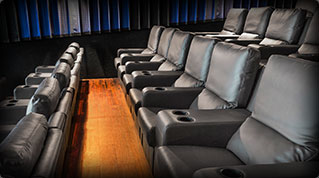 Interior photo showing new seats of Jacksonville RMC Stadium Cinemas