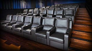 Interior photo of Waterloo RMC Stadium Suites theater with upgraded luxury seating